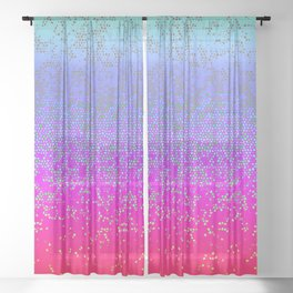 Glitter Star Dust G244 Sheer Curtain