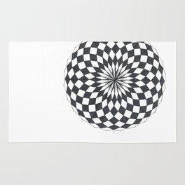 Spheric Chess Rug