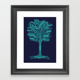 Trunklines Framed Art Print