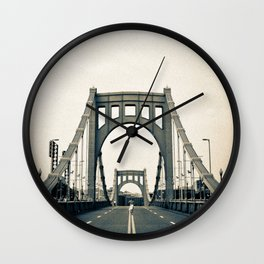 Roberto Clemente Bridge Wall Clock