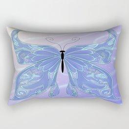 Butterfly Blue Rectangular Pillow