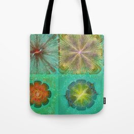 Hallowed Layout Flowers  ID:16165-043715-02000 Tote Bag