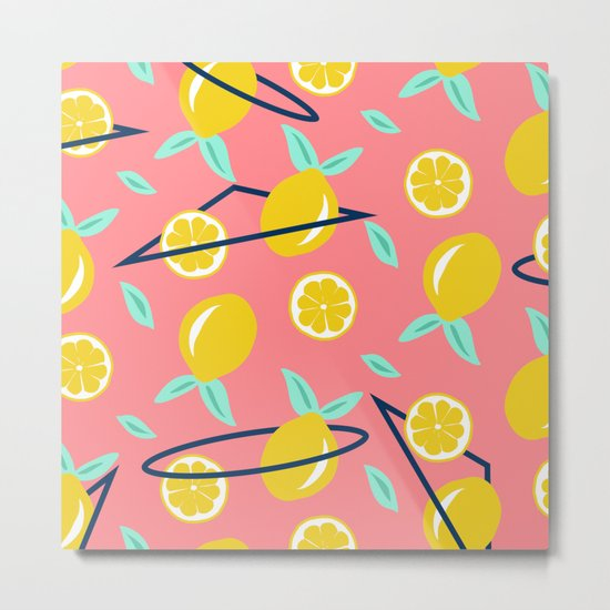 Lemons party #society6 #decor #buyart Metal Print