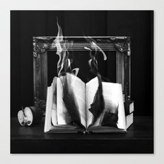 The burning book  Canvas Print