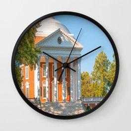 Charlottesville Virginia Campus Lawn Print Wall Clock