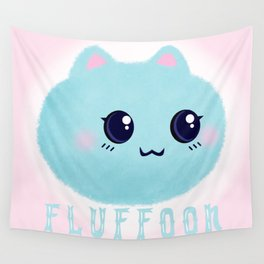 Introducing Fluffoon The Cutest Fluff In The World Wall Tapestry