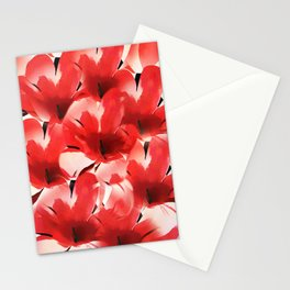 Red Poppies - Painterly Stationery Cards