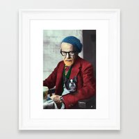 freud Framed Art Prints featuring Freud by Joaquin
