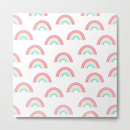 Rainbow pattern cute decor for kids room or nursery Metal Print