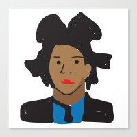 basquiat Canvas Prints featuring Basquiat by John Sailor