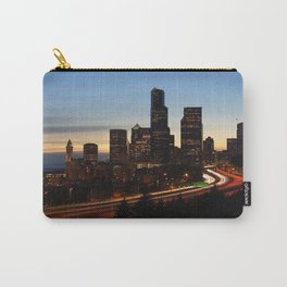 Seattle Skyline Sunset City Carry-All Pouch