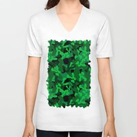 camouflage V-neck T-shirts featuring Camouflage (Green) by 10813 Apparel