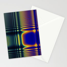 Digital Rainbow Frequency Wave Stationery Cards