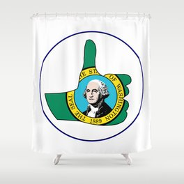 Thumbs Up Washington Shower Curtain
