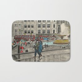 Walking in Trafalgar Square Bath Mat
