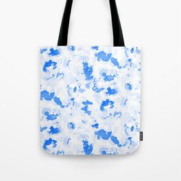 AbstractFlora Lapis Blue Tote Bag