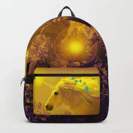 Unicorn In The Night Of Glow - My Fantasy Garden - #society6 Backpack