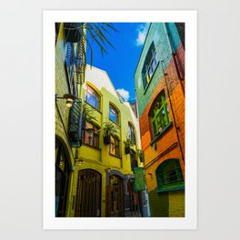 Colorful Neal's Yard In London Art Print