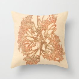 butterfly starfish Throw Pillow
