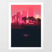 hotline miami Art Prints featuring Hotline Miami by Mbdsgns