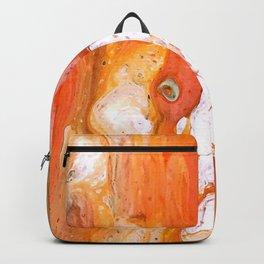 Acrylic  Orange Swipe Test Pour Backpack