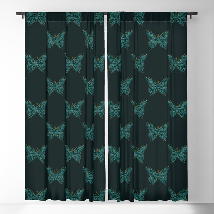 Mechanical Butterfly Blackout Curtain
