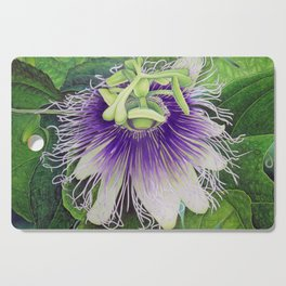 Passion Fruit Blossom Cutting Board
