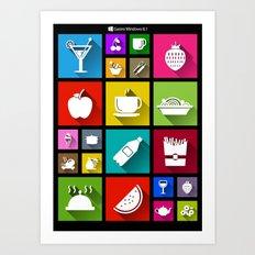 Gastro Windows 8.1 Art Print
