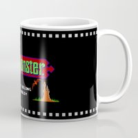 castlevania Mugs featuring Castlevania - Die Monster. You Don't Belong In This World! by Aaron Campbell