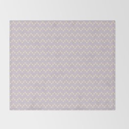 Chevron flowers - Orchid Hush Throw Blanket