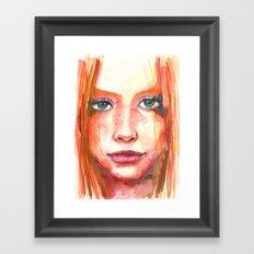 Portrait - RedHair & Freckles Framed Art Print