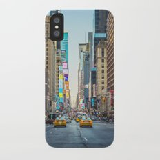 Sunset on 7th Avenue iPhone X Slim Case