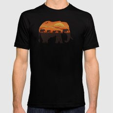 African Elephant Mens Fitted Tee Black MEDIUM
