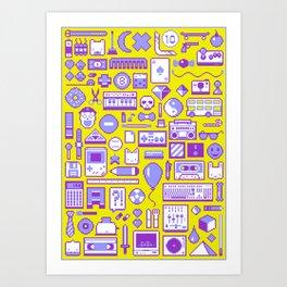 """Childhood Memories"" pixel art poster Art Print"