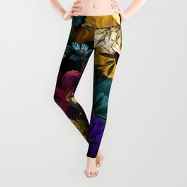 melancholy flowers big seamless pattern 01 Leggings