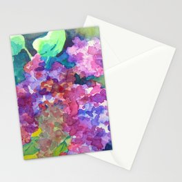 Bold Color Lilacs Stationery Cards
