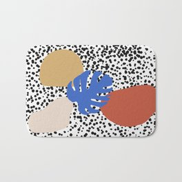 Blobby Dots White Bath Mat