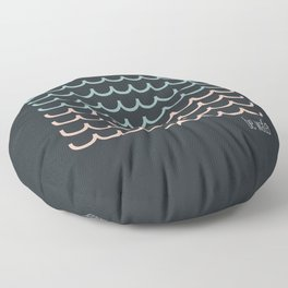 Blue and pink waves Floor Pillow