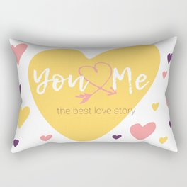 You & Me = The best love story Rectangular Pillow