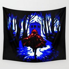 Shadow Light Of Tardis Wall Tapestry