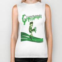 ghostbusters Biker Tanks featuring Ghostbusters by Glopesfirestar