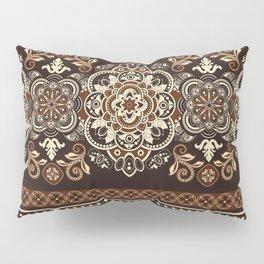 Brown Boho Geometric Pattern Pillow Sham