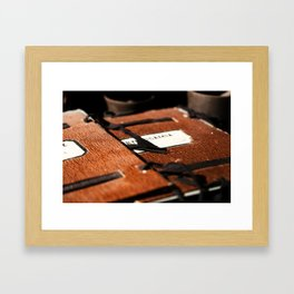 Old Documents II Framed Art Print