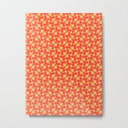 Patterns: Yellow Frogs Metal Print