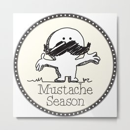 Mustache Season Metal Print