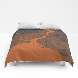Istanbul Map Comforters