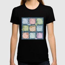 Blobby Cats dark T-shirt