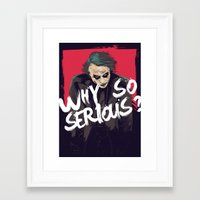 the joker Framed Art Prints featuring Joker  by FourteenLab