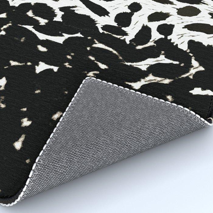 Animal Print Black And White Cheetah Pattern Rug By