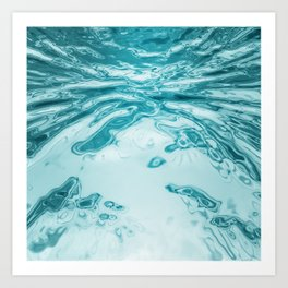 Water surface Art Print
